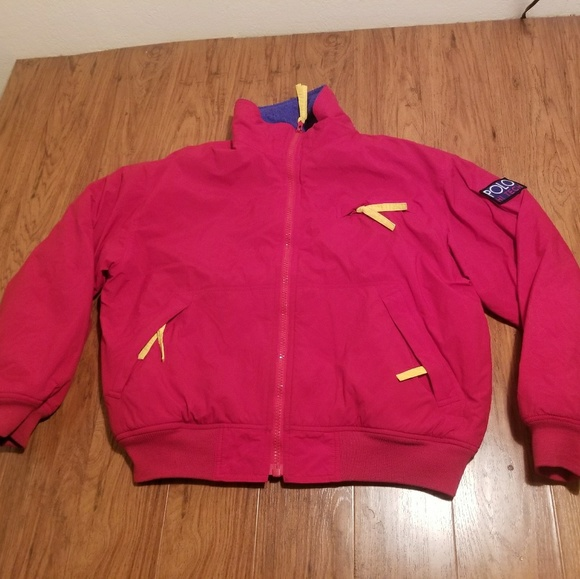 Vintage Polo Hi Tech Polartec Jacket Mens Small